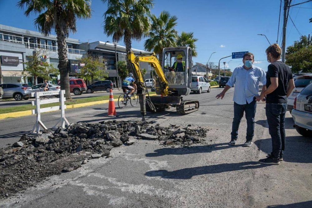 Se llevan a cabo trabajos de bacheos en ocho puntos de la ciudad