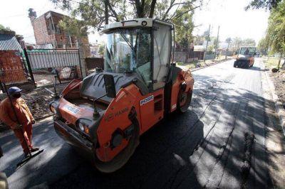 Cascallares destacó el avance de las obras de pavimentación en Brown