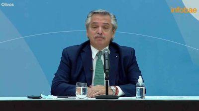 El presidente Alberto Fernández anunció que se otorgará un bono de $6.500 al personal de Salud durante tres meses