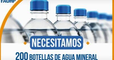Lanzaron una campaña para juntar agua mineral para nenes trasplantados