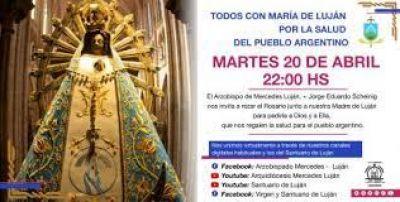 Rezarán en Luján un rosario por la salud de los argentinos