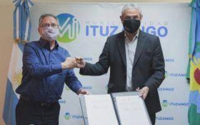 Ituzaingó: Descalzo y Ferraresi encabezaron firma del convenio