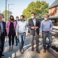 Meoni, Massa y Nardini inauguraron la renovada estación ferroviaria Villa de Mayo