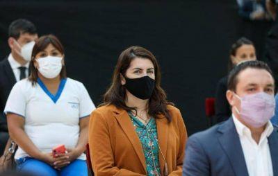 Mariel Fernández participó de anuncios del presidente para el personal de salud