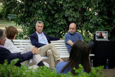 """""""Sintonía"""". Mauricio Macri, conforme con la reacción de Horacio Rodríguez Larreta en la pelea con Alberto Fernández"""