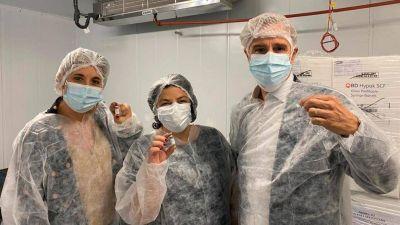 Producción de la vacuna Sputnik V en laboratorio de Malvinas Argentinas