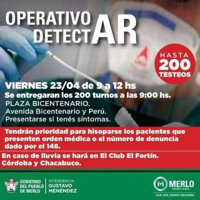 Operativo DetectAr, este viernes 23 en Plaza Bicentenario