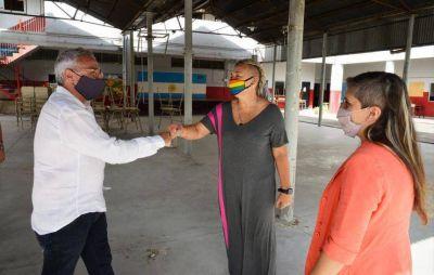 Julio Zamora supervisó trabajos del municipio de Tigre en El Talar