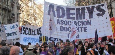 """Ademys sostiene el paro en CABA por 48 horas """"La Ctera debe convocar a un plan de lucha nacional"""""""