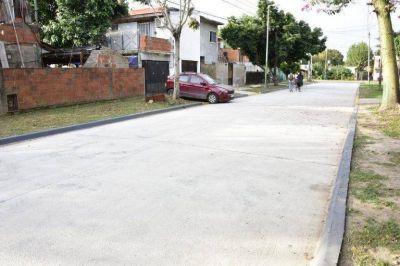 Pavimentaron dos calles en el barrio Magdalena de Los Polvorines