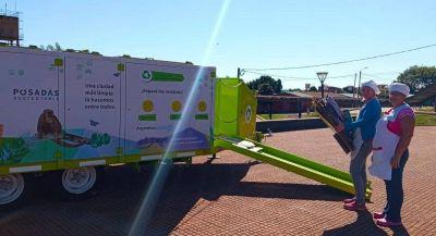 El Ecopunto Móvil recolectó más de 500 kilos de residuos inorgánicos en Posadas