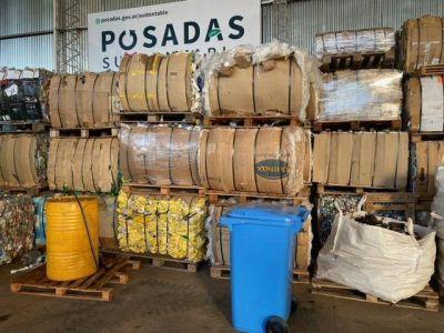 La planta de reciclaje de Posadas recibe y trata por día 5500 kilos de residuos inorgánicos