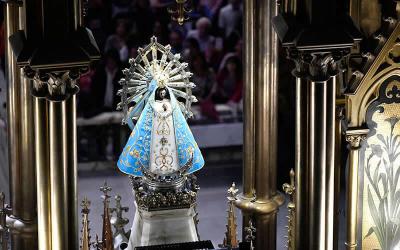 """El santuario de la Virgen de Luján elegido para """"maratón"""" de oración por el fin de la pandemia"""