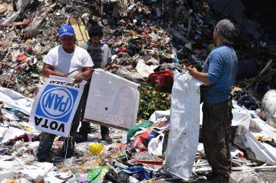 Estiman que se generarán hasta 60 mil toneladas de basura electoral