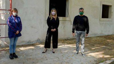 Zabaleta y Di Tullio en la ampliación del Hogar de Abrigo «Eva Duarte»