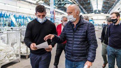 Con eje en las obras de repavimentación, Grindetti recorrió el parque industrial y visitó la empresa X-Urban