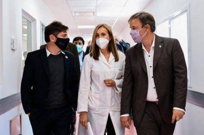 Kicillof y Cascallares inauguraron obras en el Hospital Oñativia