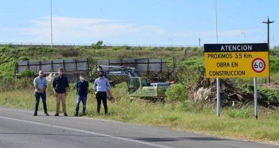 Comenzaron obras en Autopista 5 que beneficiarán al Barrio Luna