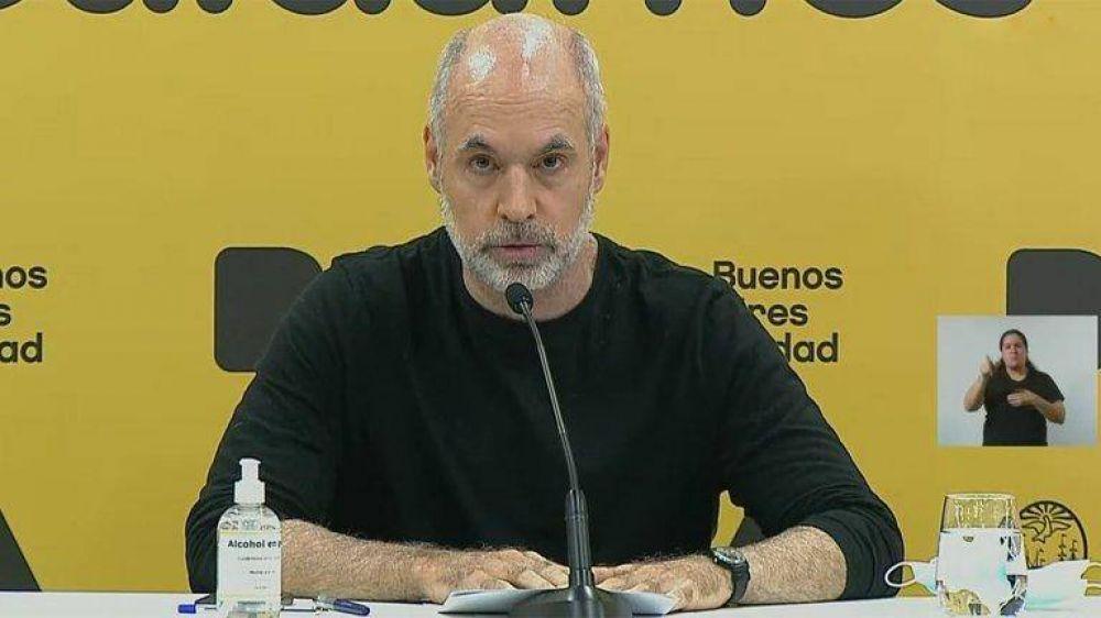 La ciudad de Buenos Aires mantendrá abiertos los jardines de infantes, las escuelas primarias y aplicará un sistema bimodal en la secundaria: en todo lo demás acatará el DNU de Alberto Fernández