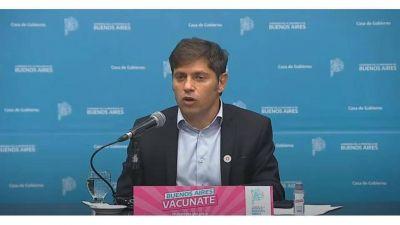 Kicillof defendió a Alberto Fernández, criticó a la Ciudad y anunció una batería de ayudas económicas