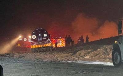 Luego de 7 horas, sofocan incendio en relleno sanitario de León