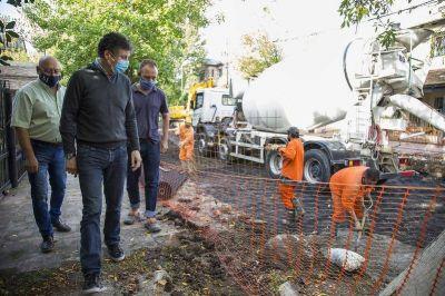 Bajo de San Isidro: pavimento nuevo en la calle Héroes de Malvinas