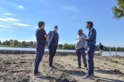 Juan Andreotti recorrió la recuperación de 2 hectáreas de espacio verde para ampliar el Parque Náutico