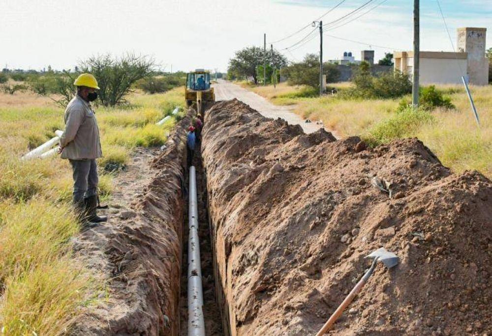 Avanza la obra del Nexo Cloacal La Quebrada que beneficiará a más de seis mil vecinos