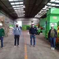 Funcionarios de Coronel Dorrego visitaron Planta de Separación de Residuos de Tres Arroyos