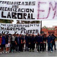 Protestas en el centro porteño de los despedidos de Latam y los tercerizados de Edesur