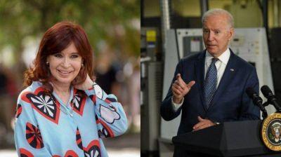 Cristina Kirchner y un inesperado elogio a Biden por financiar plan de rescate con impuesto a los ricos
