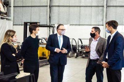 Kulfas anunció $60 millones para la ampliación del Parque Industrial Tecnológico Aeronáutico de Morón