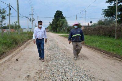 El municipio realizó trabajos de reparación y mejorado en la calle Barracas