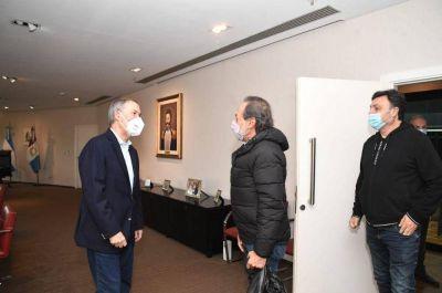 Schiaretti recibió a Guillermo Francella y Marcos Carnevale
