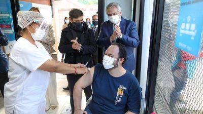 El Presidente visitó una unidad sanitaria de Acumar