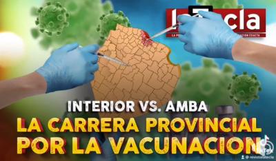 La carrera provincial por la vacunación