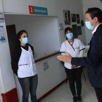 El intendente Cardozo visitó el Centro de Vacunación de San Clemente