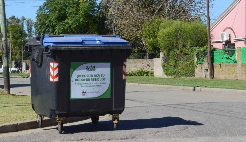 Colocaron los contenedores de basura en el barrio Sarmiento