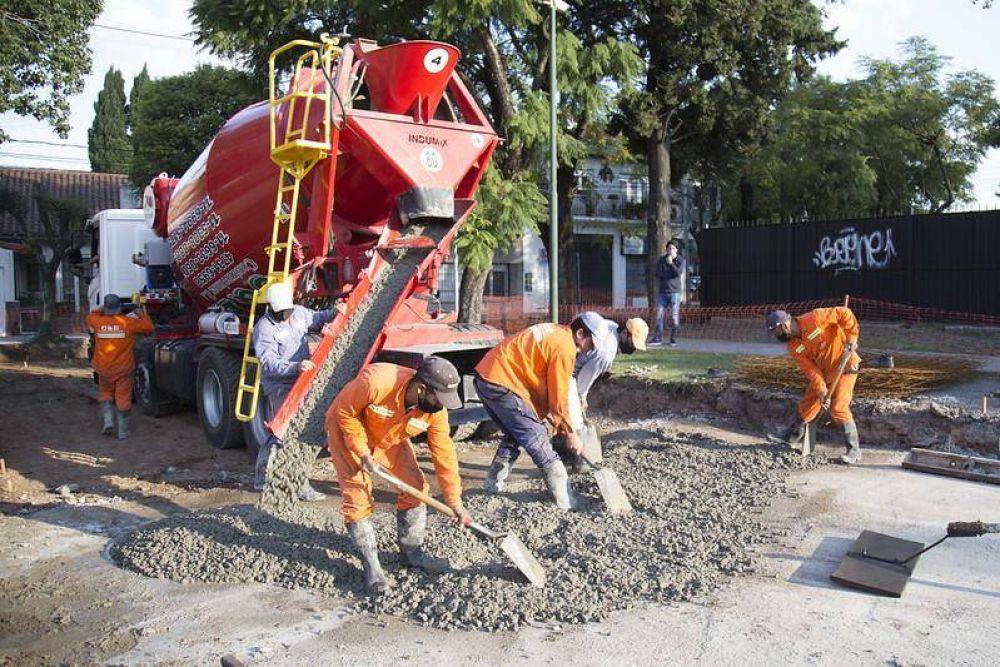 San Isidro: pavimento nuevo en Beccar