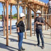 Juan Andreotti recorrió la obra de la futura Planta de Reciclaje Municipal