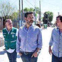 Gustavo Menéndez en la obra de la calle Roldán