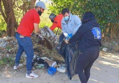 Limpian un microbasural en Otamendi