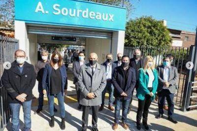 La Unión Ferroviaria estuvo en la inauguración de la estación Sourdeaux de la Línea Belgrano Norte
