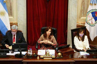 Cristina Kirchner giró el proyecto de ley para regular las restricciones por el COVID-19 a dos comisiones del Senado y apura el debate