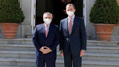 Alberto Fernández se reunió con el Rey Felipe VI para fortalecer su estrategia de negociación con el FMI