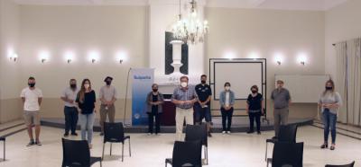 Suipacha: Federico supervisó las obras realizadas en el Teatro de la Sociedad Española