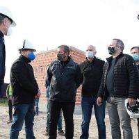 Grindetti y Sabbatella recorrieron las obras del Parque Industrial Curtidor, en Lanús Oeste