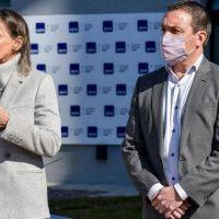 Watson y Galmarini inauguran nuevas instalaciones para empleados de AySa en Varela