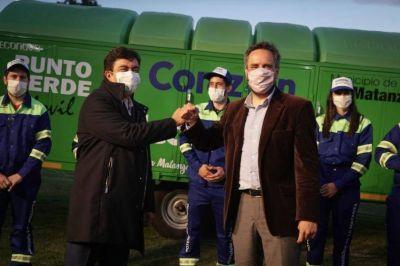 Ambiente entregó maquinaria para la gestión de residuos sólidos urbanos en La Matanza