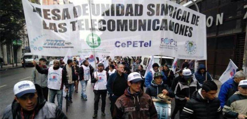 Gremios telefónicos nacionales evaluarán medidas de fuerza por falta de acuerdo paritario